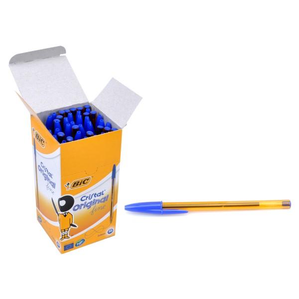 BIC στυλό διαρκείας με μύτη 0.8mm, μπλε, 50τμχ