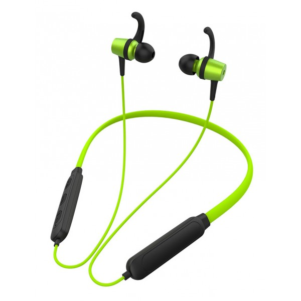 CELEBRAT Bluetooth earphones A15, με μαγνήτη, μικρόφωνο HD, πράσινα