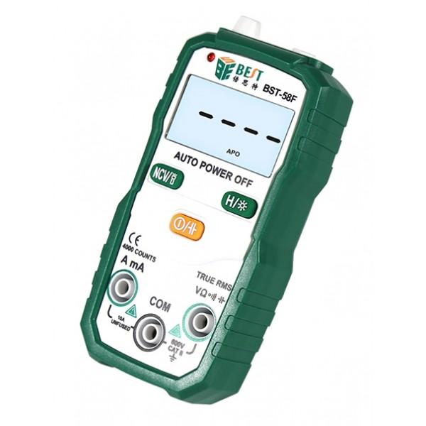 BEST ψηφιακό πολύμετρο BST-58F με NSV, DC/AC, current, auto power off
