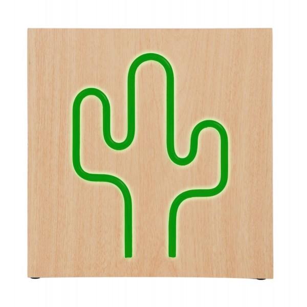 BIGBEN ηχείο Cactus Neon, 15W, bluetooth, ξύλο