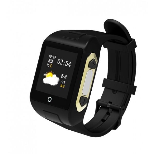 GPS Ρολόι χειρός SD-SW802 για ηλικιωμένους, SOS, μετρητής παλμών, μαύρο